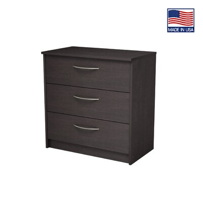 Karis 3 Drawer Chest Color: Espresso