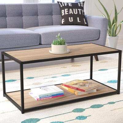 Claudette Industrial Coffee Table Finish: Sonoma Oak