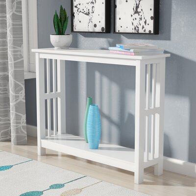 Cade Console Table Finish: White