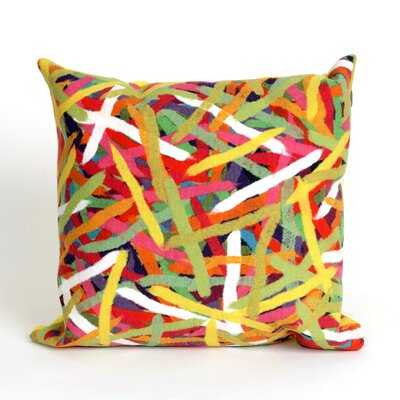 Palmira Pick Up Sticks Throw Pillow Color: Yellow