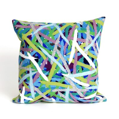 Palmira Pick Up Sticks Throw Pillow Color: Blue
