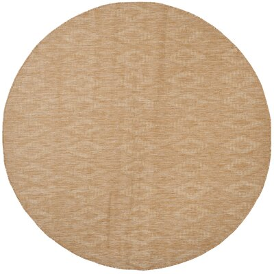 Lefferts Natural Indoor/Outdoor Area Rug Rug Size: Round 67