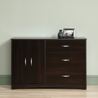 Everett 3 Drawer Combo Dresser Color: Cinnamon Cherry