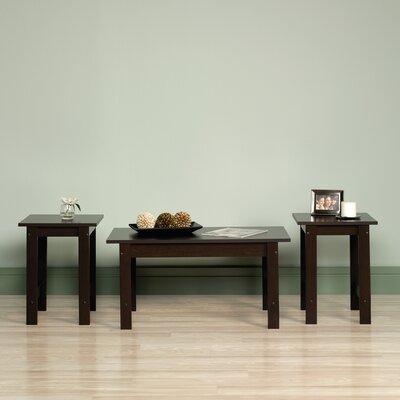 Everett 3 Piece Coffee Table Set Color: Cinnamon Cherry