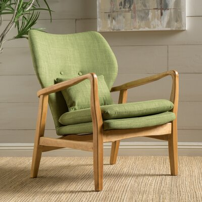 Andersen Accent Armchair Upholstery: Green