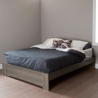 Abram Queen Platform Bed Color: Gray Maple