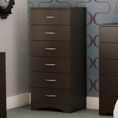 Lauryn 6 Drawer Chest Color: Chocolate