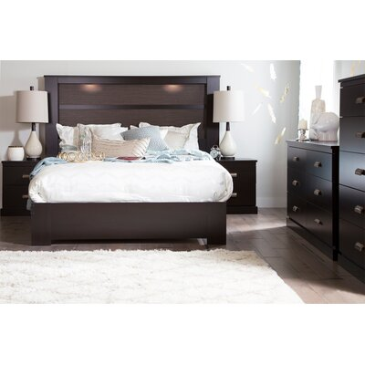 Abram Queen Platform Bed Finish: Chocolate