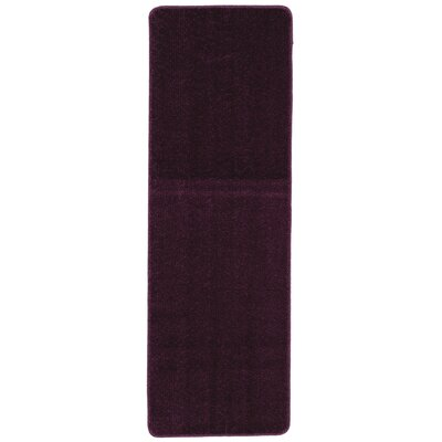 Bundinie Hill Bath Mat Rug Size: Runner 18 x 49, Color: Purple