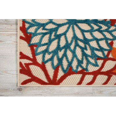 Nathalie Red Indoor/Outdoor Area Rug Rug Size: 710 x 106