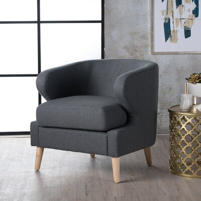 Chambers Barrel Chair Upholstery : Charcoal