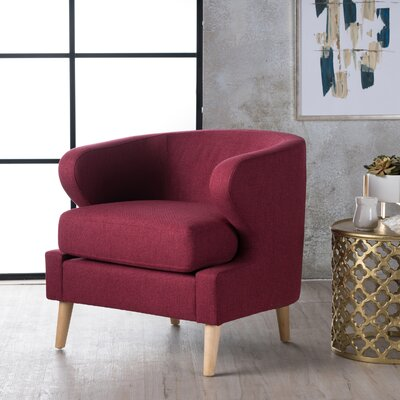 Chambers Barrel Chair Upholstery : Red
