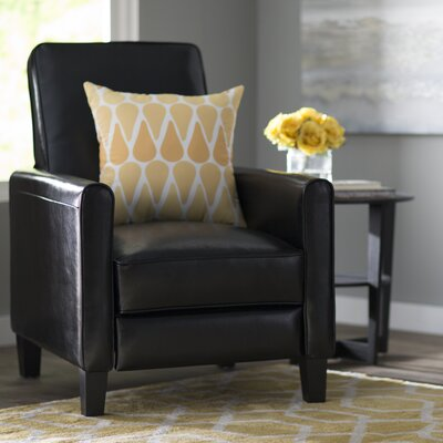 Lana Reclining Club Chair Upholstery: Black