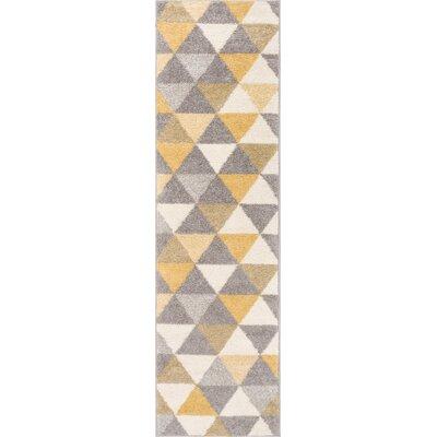 Ikin Gold/Beige Area Rug Rug Size: Runner 2 x 73