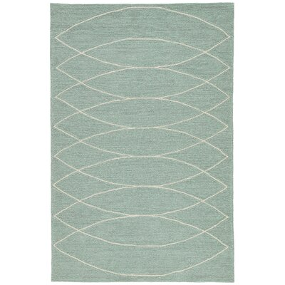 Smith Blue & Ivory Geometric Indoor/Outdoor Area Rug Rug Size: Rectangle 5 x 76