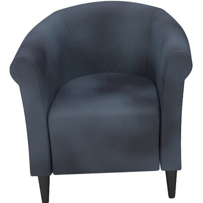 Liam Barrel Chair Upholstery: Black