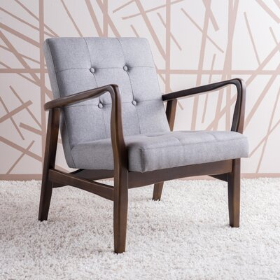 Milanna Armchair Upholstery: Gray