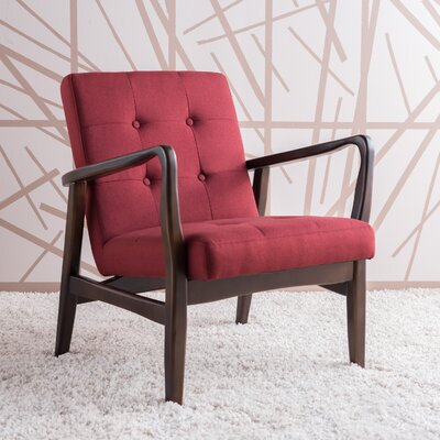Milanna Armchair Upholstery: Deep Red