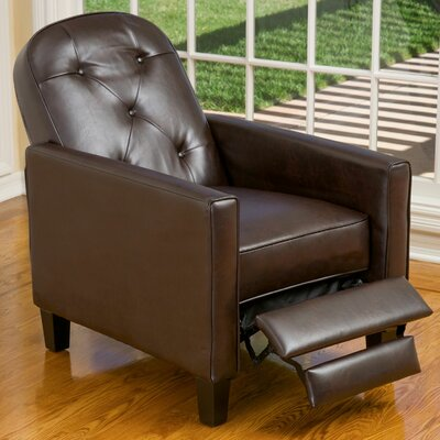 Josephine Manual Lift Assist Recliner Upholstery: Brown