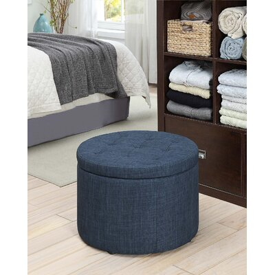 Stansell Storage Ottoman Upholstery: Blue Fabric