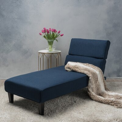 Harlowe Chaise Lounge Upholstery: Dark Blue