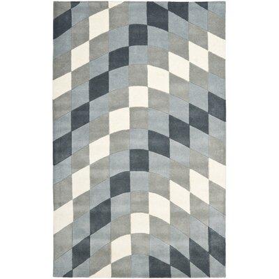 Freda Light Grey/Ivory Rug Rug Size: Rectangle 5 x 8