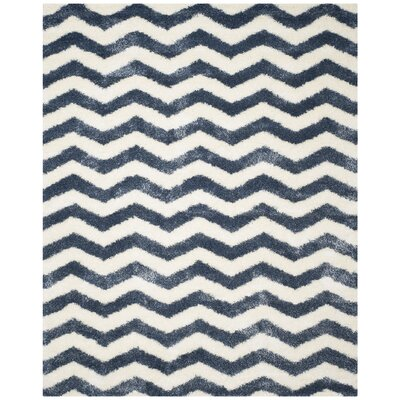 Kimberley Ivory/Blue Area Rug Rug Size: Rectangle 8 x 10