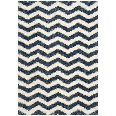 Kimberley Ivory/Blue Area Rug Rug Size: Rectangle 53 x 76