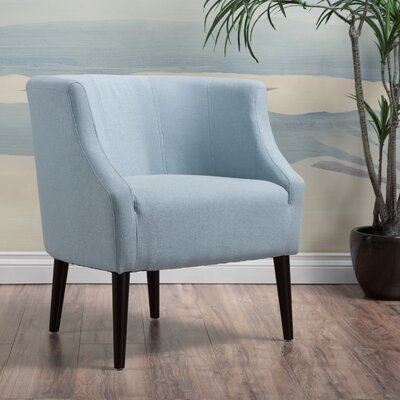 Crosby Barrel Chair Upholstery: Light Sky
