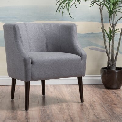 Crosby Barrel Chair Upholstery: Gray