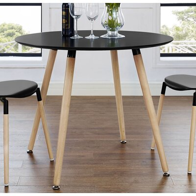 Jacobson Large Dining Table Top Finish: Black