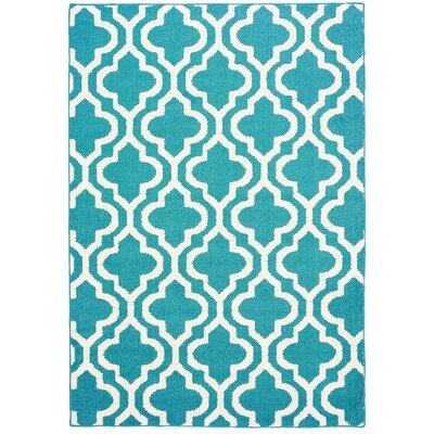 Myra Blue/White Area Rug Rug Size: 5 x 7