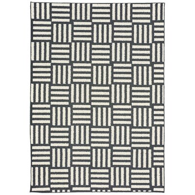 Dorothy Brown/White Area Rug Rug Size: 76 x 96