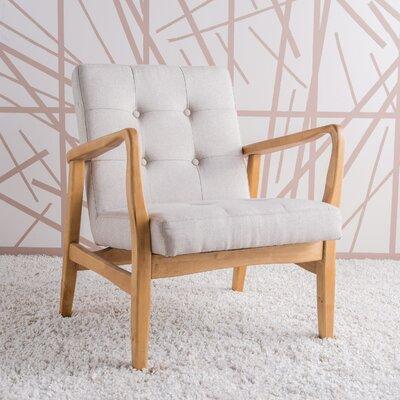 Milanna Armchair Upholstery: Medium Beige