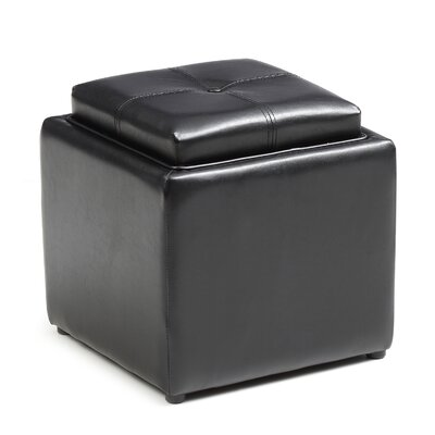 Bodie Cube Storage Ottoman Upholstery: Black