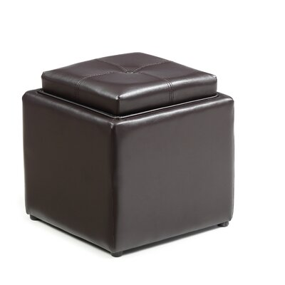 Bodie Storage Ottoman Upholstery: Brown