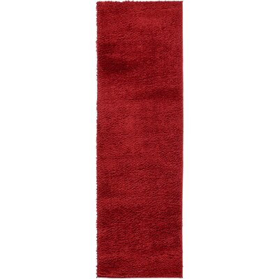 Verna Red Area Rug Rug Size: Runner 27 x 10