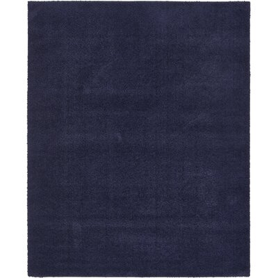 Wilfred Solid Shag Midnight Blue Area Rug Rug Size: Rectangle 8 x 10