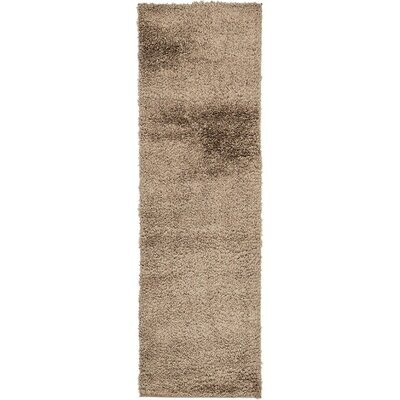 Virgie Solid Shag Brown Area Rug Rug Size: Runner 27 x 10