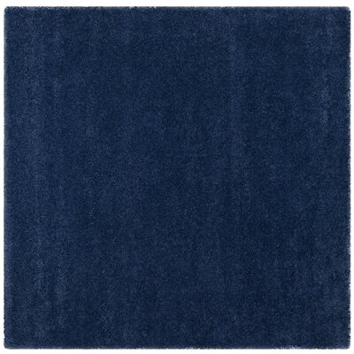 Holliday Navy Blue Area Rug Rug Size: Square 7