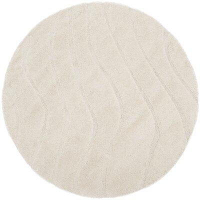 Enrique Cream Area Rug Rug Size: Round 67 x 67