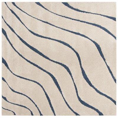 Enrique Cream/Beige Area Rug Rug Size: Square 67 x 67