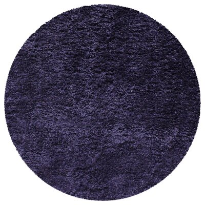 Catharine Hand-Woven Navy Blue Area Rug Rug Size: Round 66