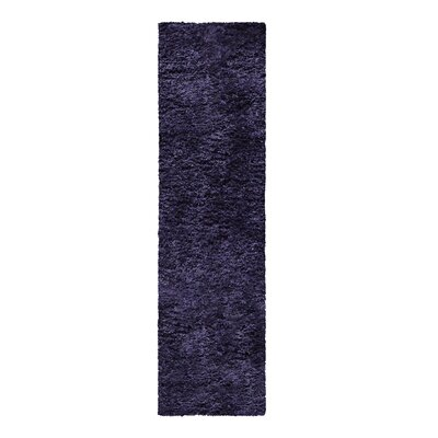 Catharine Hand-Woven Navy Blue Area Rug Rug Size: Runner 26 x 8