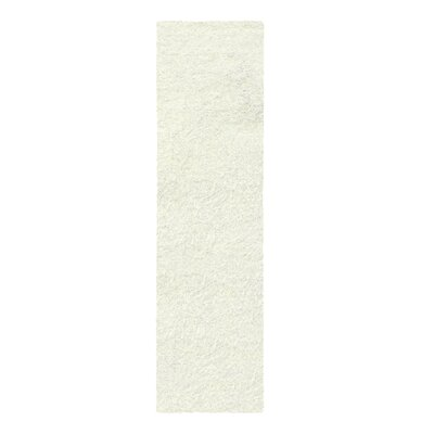Catharine Hand-Woven Ivory Area Rug Rug Size: Runner 26 x 8
