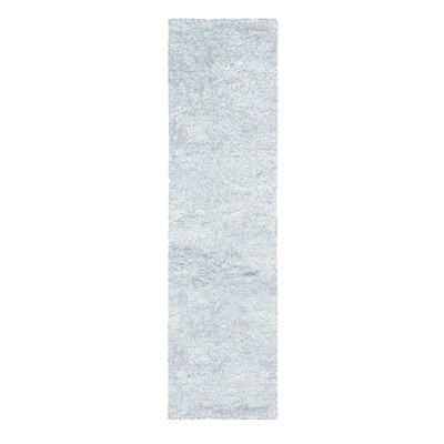 Catharine Hand-Woven White Area Rug Rug Size: Runner 26 x 8