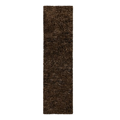 Catharine Hand-Woven Cocoa Area Rug Rug Size: Runner 26 x 8