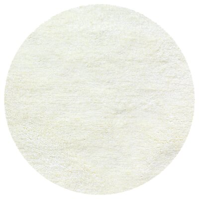 Catharine Hand-Woven Ivory Area Rug Rug Size: Round 66