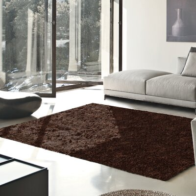 Catharine Hand-Woven Cocoa Area Rug Rug Size: Rectangle 4 x 6