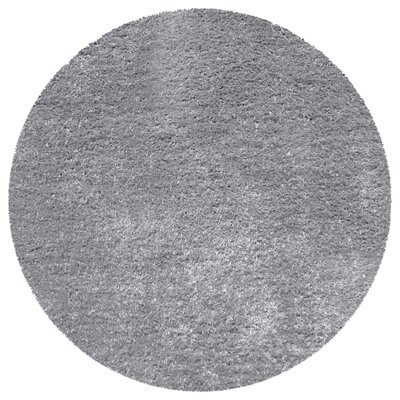 Catharine Hand-Woven Gray Area Rug Rug Size: Round 66